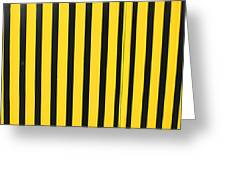 Yellow And Black Stripes Greeting Card