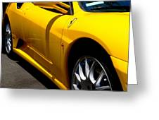 Yellow Ferrari Greeting Card