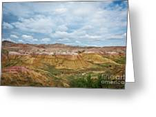 Yellow Mounds Of Badlands Np Greeting Card