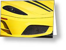 Yellow Stradale Greeting Card
