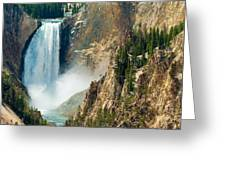Yellowstone Waterfalls Greeting Card