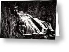 Yellowstone's Gibbon Falls Greeting Card