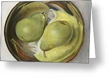 Yin Yang Pears Greeting Card