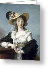 Yolande-martine-gabrielle De Polastron Duchesse De Polignac Lisabeth Louise Vige Le Brun Greeting Card