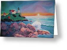 York Beach Maine Greeting Card