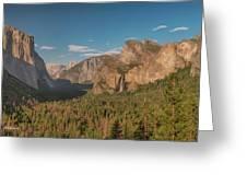 Yosemite Valley View Greeting Card
