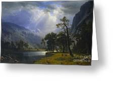 Yosemite_valley Greeting Card