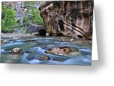 Zion National Park Narrows Greeting Card