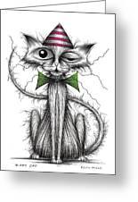 Zippy Cat Greeting Card