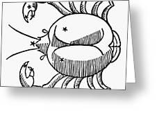 Zodiac: Cancer, 1482 Greeting Card