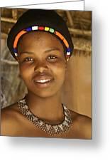 Zulu Maiden Greeting Card