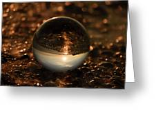 10-17-16--8585 The Moon, Don't Drop The Crystal Ball, Crystal Ball Photography Greeting Card