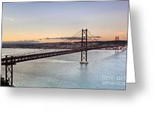 25th Of April Suspension Bridge In Lisbon Greeting Card