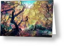10 Abstract Japanese Maple Tree Greeting Card