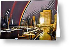 Docklands Double Rainbow Greeting Card