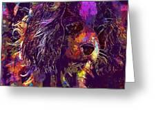Dog Cavalier King Charles Spaniel  Greeting Card