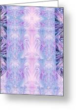 Floral Abstract Design-special Silk Fabric Greeting Card