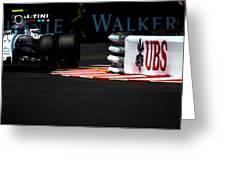 Formula 1 Monaco Grand Prix 2016 Greeting Card