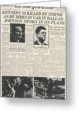 John F Kennedy (1917-1963) Greeting Card