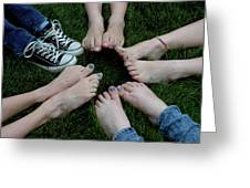 10 Kids Feet Greeting Card