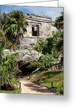 Mayan Temples At Tulum, Mexico Greeting Card