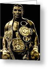 Mike Tyson Collection Greeting Card