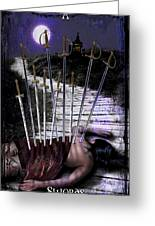 10 Of Swords Greeting Card