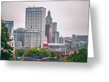 Providence Rhode Island City Skyline In October 2017 Greeting Card