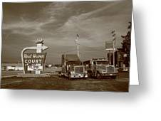 Route 66 - Rest Haven Motel Greeting Card