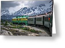 Scenic Train From Skagway To White Pass Alaska Greeting Card