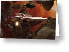 Star Wars At Poster Greeting Card