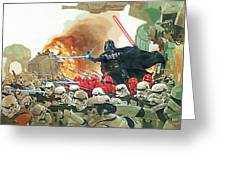 Star Wars At Poster Greeting Card