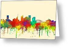 Sydney Australia Skyline Greeting Card