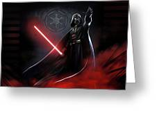 Trilogy Star Wars Art Greeting Card