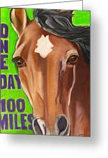 100 Mile Horse Greeting Card