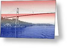 1000 Island International Bridge 3 Greeting Card