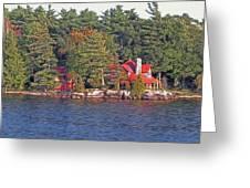 1000 Island Scenes 17 - Skull And Bones Society - Deer Island Greeting Card