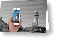 1000 Words-byron Bay Lighthouse Greeting Card