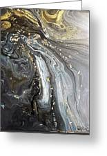 #1006 Gold Waves Greeting Card