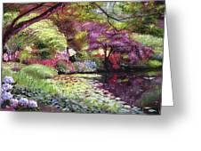 Water Lily Lake Greeting Card