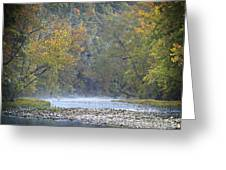 1010-3979 Buffalo River Boxley Valley Fall Greeting Card by Randy Forrester