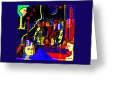 103 -   Psychedelic City Night .. Greeting Card