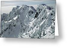 104726 Cornices On Denny Mountain Greeting Card