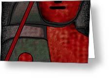 109  Minimalist Portrait .v.. Greeting Card