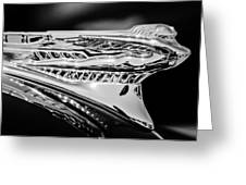 1946 Desoto Hood Ornament -169bw Greeting Card