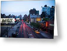 10th Avenue Lights Greeting Card