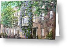 10th Street Wisteria Greeting Card