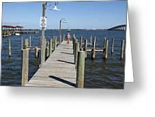 Indian River Lagoon At Eau Gallie In Florida Usa Greeting Card