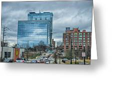Atlanta Downtown Skyline Scenes In January On Cloudy Day Greeting Card