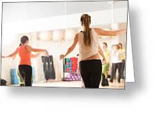 Dance Class For Women Greeting Card